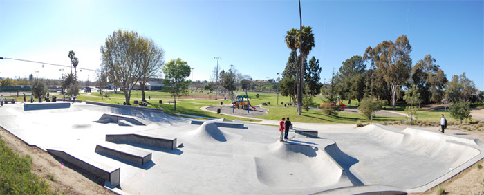 Oceanside Melba Bishop Skateboard Park Overview